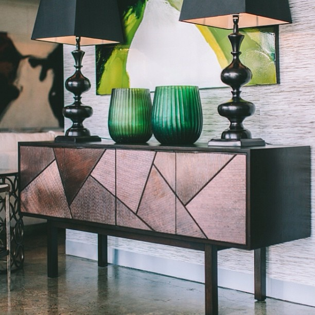 The stunning Boyd Prisma Buffet. Lagos Emerald Vases & Istanbul Lamps, available now for delivery Australia-wide. Shop online www.boydblue.com #boydblue #boyd #buffet #homedecor #interiors #interiordesign #decorating #copper