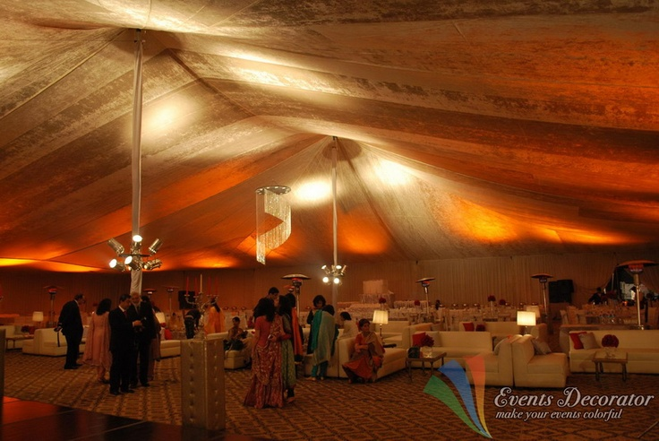 Wedding Hall and Tents Decoration.    Tents and Stage decoration      Carpets   Curtains and  wall decoration   Sofa cushion set and guest seats    Lighting with multi colors    LED lighting    Chandelier   Disco lights    Entrance decoration      Lanterns and flowers decorationbarat_01      Flower bouquets.      Garlands      Glass or metal tables      Furnished sofa sets      Electric water cooler      Water dispenser      Tea pots      Heaters      Generators      Crockery