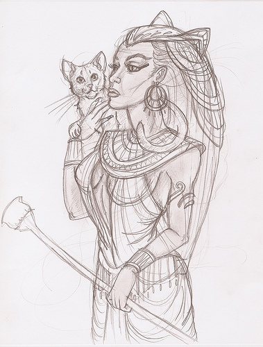 Bastet by eristaj, via Flickr