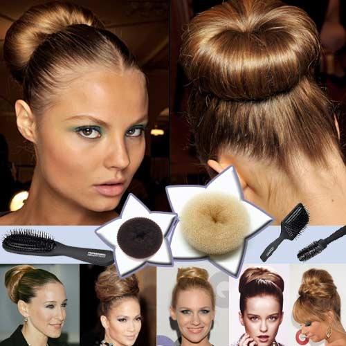 recogidos donut top knot peinados tendencia cabello recogido