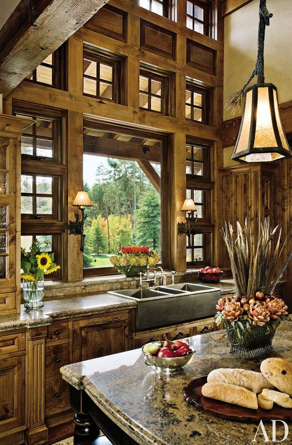 Rustic Kitchens in Mountain Homes-25-1 Kindesign  I love it!  c 1016