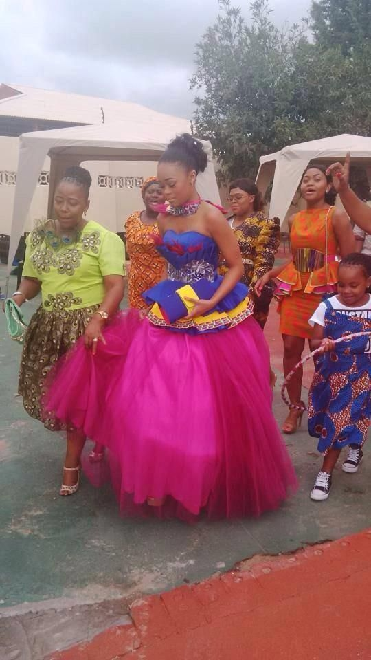 Mantwa Matlala (Julius Malema's new wife) in traditional South African wedding attire
