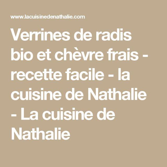 Verrines de radis bio et chèvre frais - recette facile - la cuisine de Nathalie - La cuisine de Nathalie