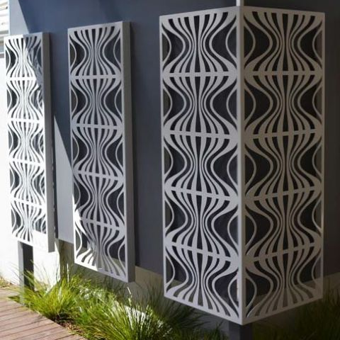 Retro - Metal Laser Cut Screens - Outdoor Screens & Wall Features - Watergarden Warehouse