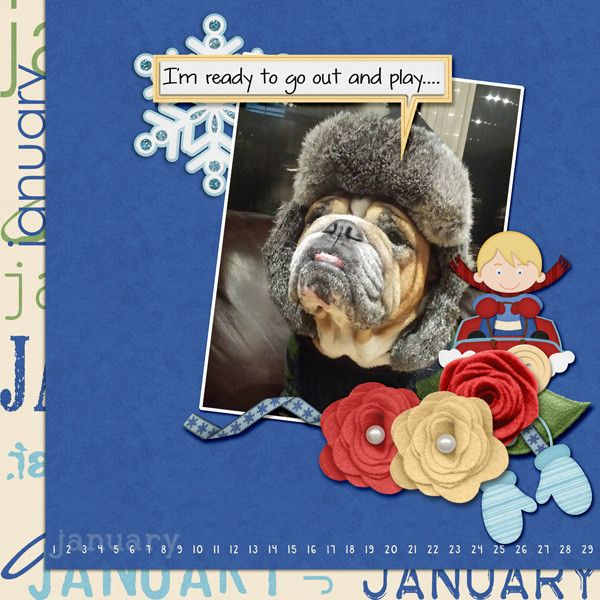 Ready to go out Layout by KittenScraps using This Year Series of Kits by KittenScraps
