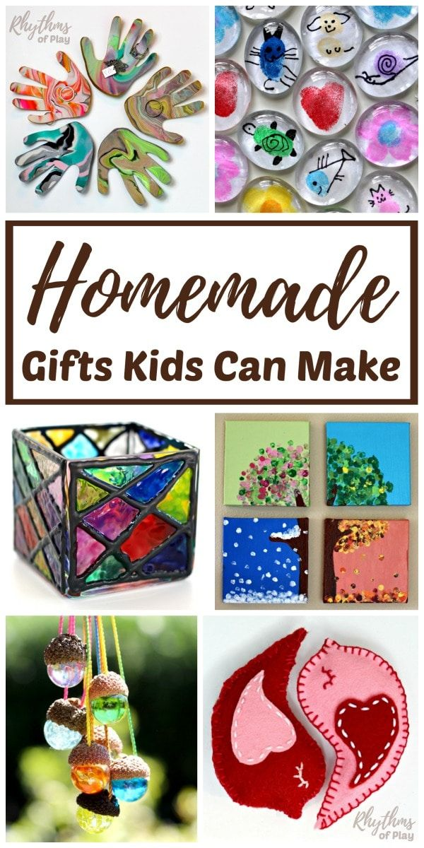 Homemade Gifts Kids Can Make For Parents And Grandparents Homemade Kids Gifts Diy Gifts For Kids Unique Homemade Gifts