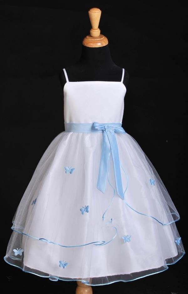 Wedding Dresses For Night Time : Gorgeous flower girl dress ice blue night time wedding