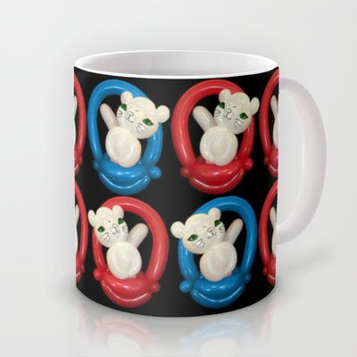 Balloon Cats in Baskets Mug by Upcyclepatch - $15.00