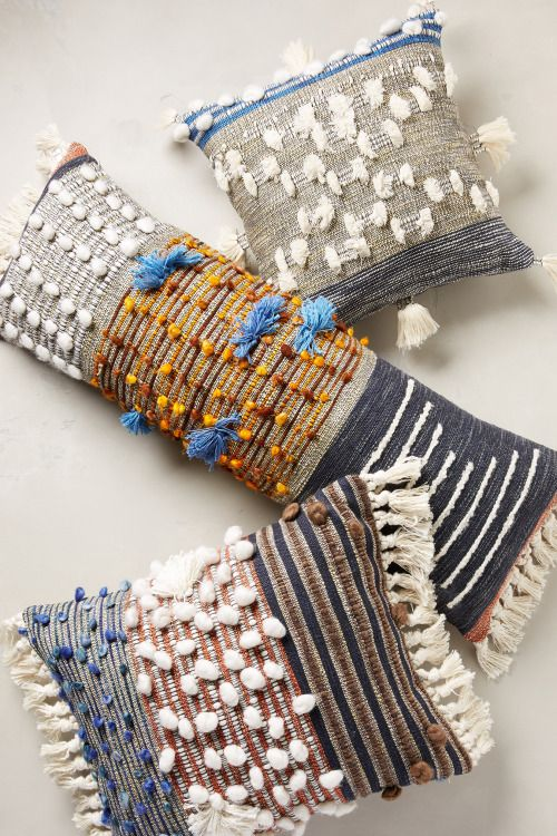 Textural pillows by All Roads for Anthropologie. Majida...