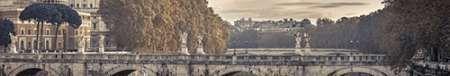 Saint Angelo bridge and Tiber River, Rome, Italy