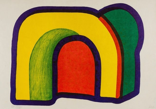 Howard Hodgkin | Composition with Red (Arch) (Heenk 10) (1970) | Available for Sale | Artsy