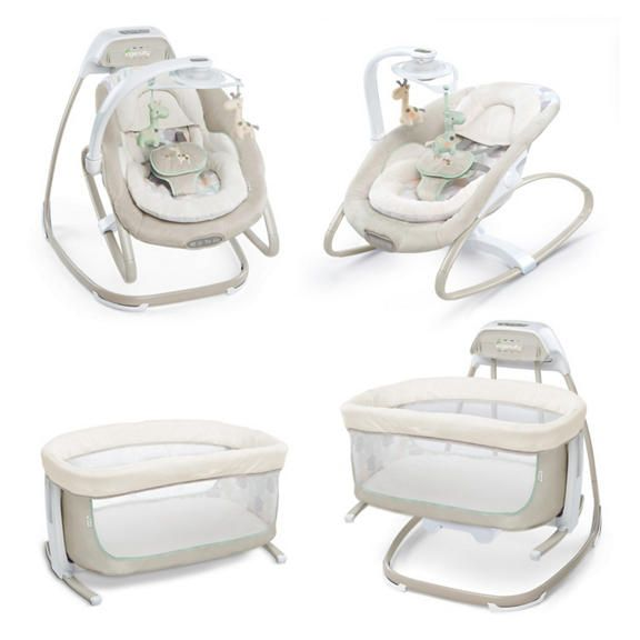 Ingenuity 4 In 1 Swing Rocker Stationary And Gliding Bassinet This Is What We Got For Sawyer Baby Swings Baby Seat Ac Power
