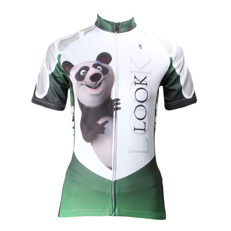Women Cycling Jersey Panda Cycling Clothing Women Bike Cartoon Short Sleeve Cycling Jersey  X159