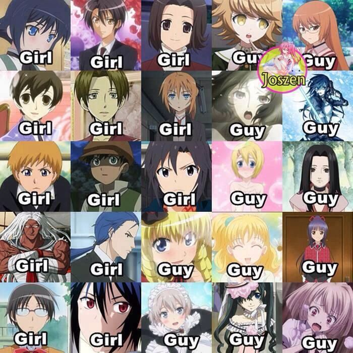 Anime rule: if it looks like one gender it is probably the opposite