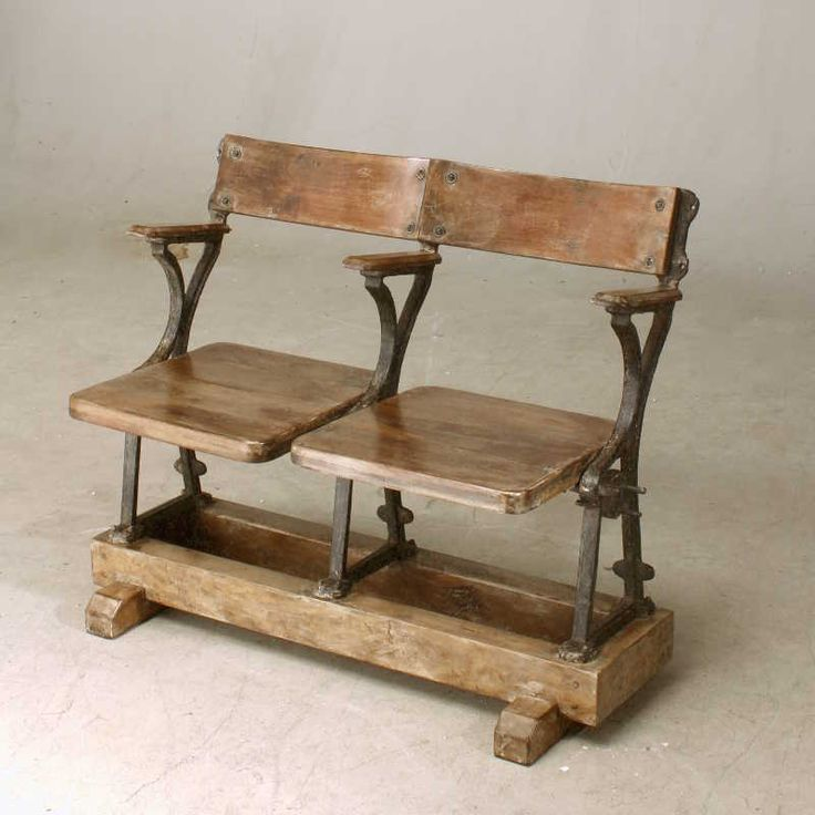 Two Seat Grandstand Bench | Vintage Chairs | Andy Thornton