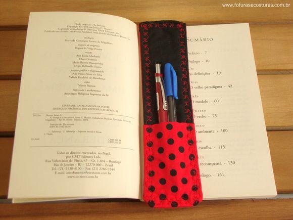 Marcador de Páginas com porta caneta