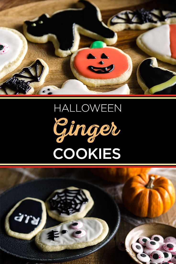 treat your kids to some sweet and spicy ginger halloween cookies your tiny bakers - Halloween Cookies Decorating Ideas