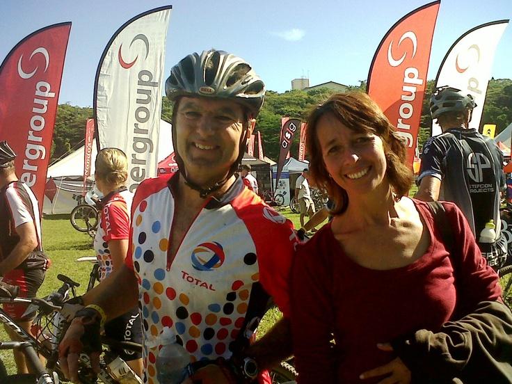 Lola is glad to see me finish - Sani2C 2012