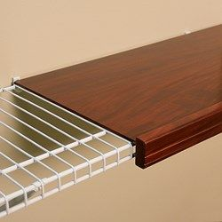 Renew Cherry Finish Wire Shelf Cover*** This Is AWESOME! I Hate My Wire  Shelves !