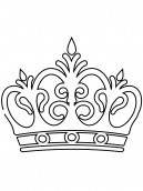 Royal Crown Coloring Sheet