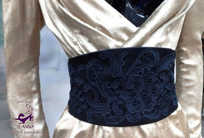 Belts, handmade.  Fair Masters - handmade.  Buy Luxury waist silk with lace Valentino is adjusted to your scope.  Handmade.