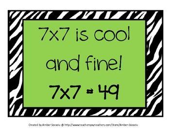 Multiplication Rhymes FREEBIE