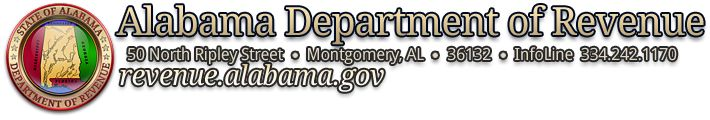 Alabama Department of Revenue - Sales Tax