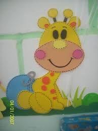 Resultado de imagem para girafa em eva