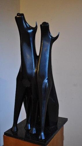 'toros' Del Escultor Antioqueño Salvador Arango $13,328.60 USD Colombia Arte y Antigüedades