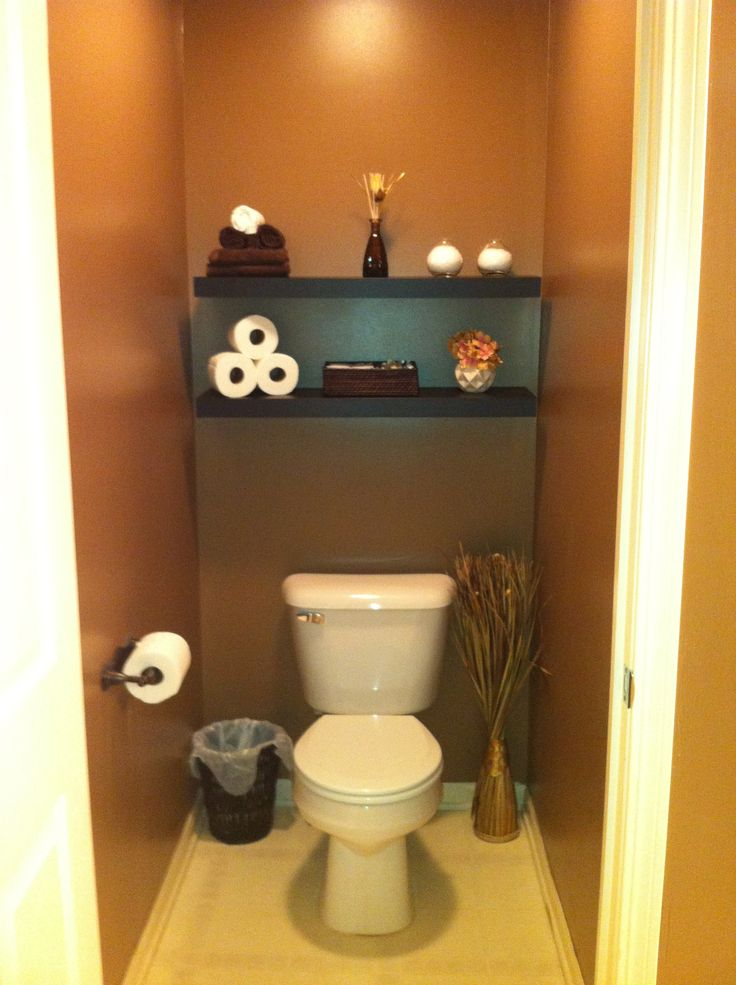 Finally did our master bathroom toilet room got the idea on pinterest thanks home - Decoration toilette ...