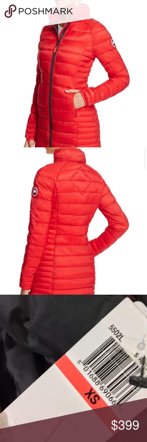 Canada Goose Brookvale Parka Authentic light weight packable coat, true to size. Tag attached (pictures). Worn once or twice- practically new. Please inspect carefully- no trades. Canada Goose Jackets & Coats Puffers