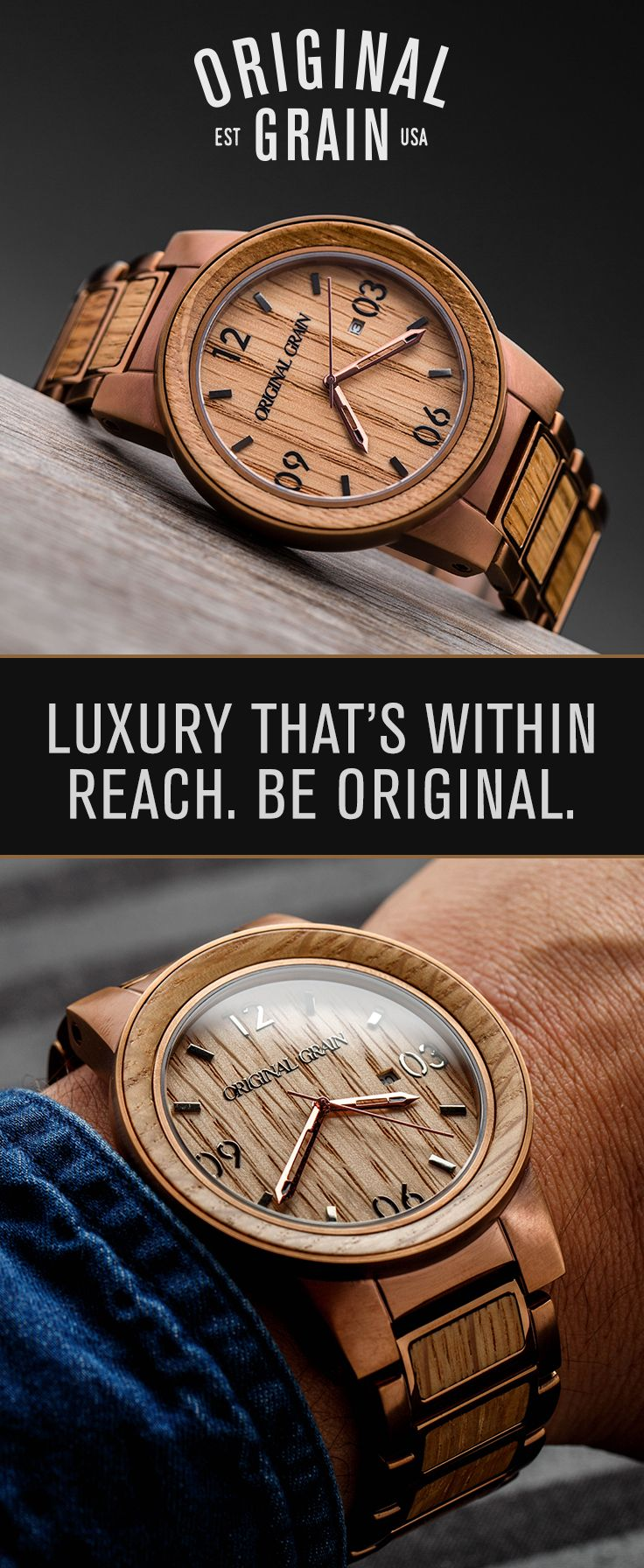 whiskey grain n wood stainless collection black products original steel watch barrel by watches