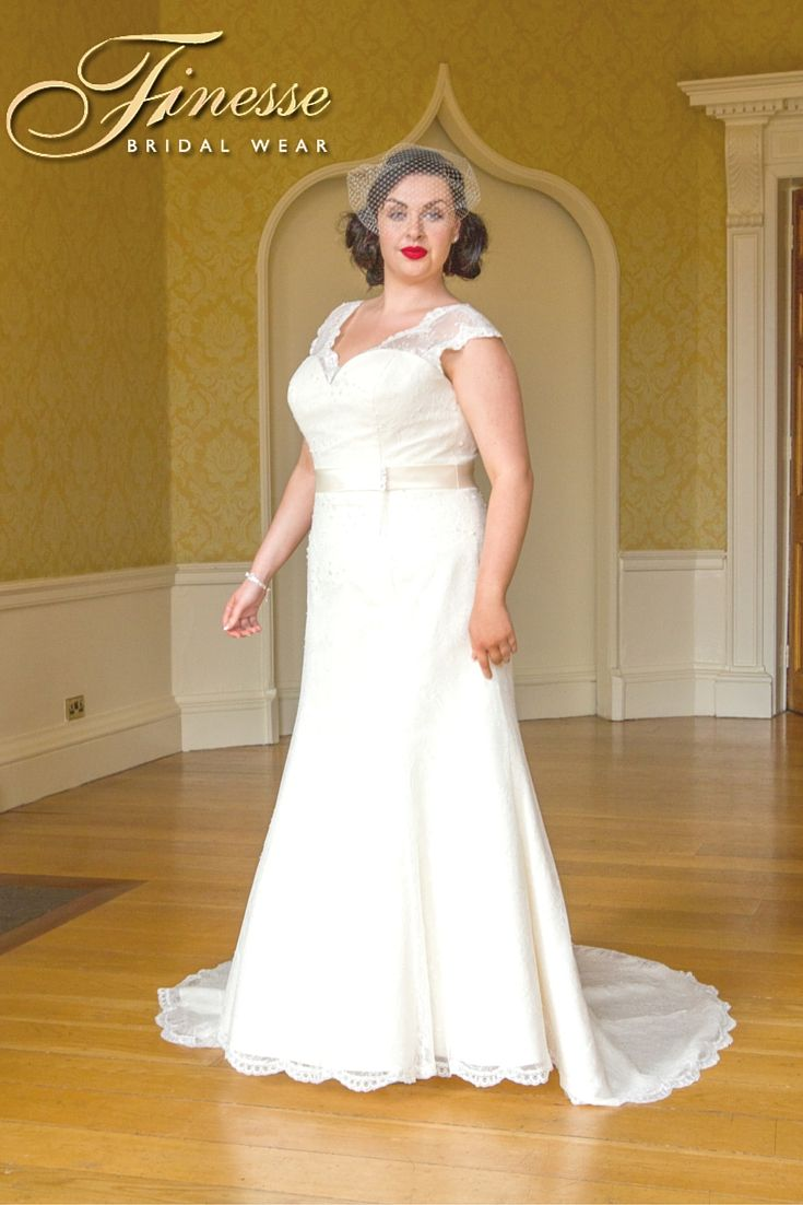 Stunning 'Movie Star' Wedding Dress with trail from Finesse Bridal Wear in Listowel, Co Kerry #LargerSizeWeddingDress