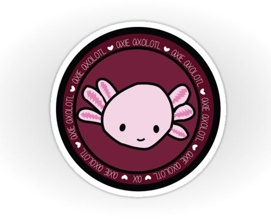 Axie Axolotl at Axolotlie on Redbubble - Sticker  #Axolotl #axolotlgraphic #axolotlsticker #cute #aquarium #love #art #design