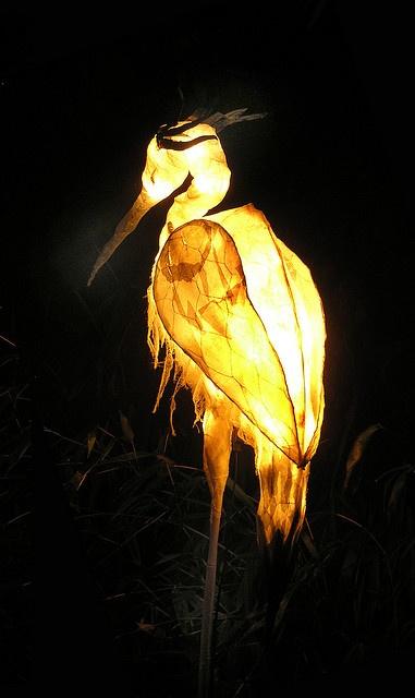 Winter Solstice Crane Lantern
