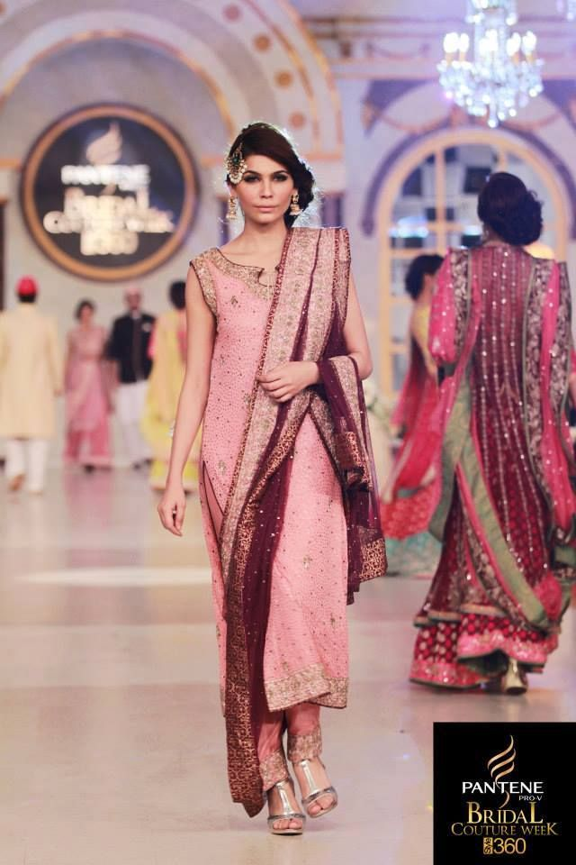 Pantene Bridal Couture Week – Niza Azwer --) love the colour and hyderabadi style neckline and kaam on shoulders - my preferred shade would me more tea pink)