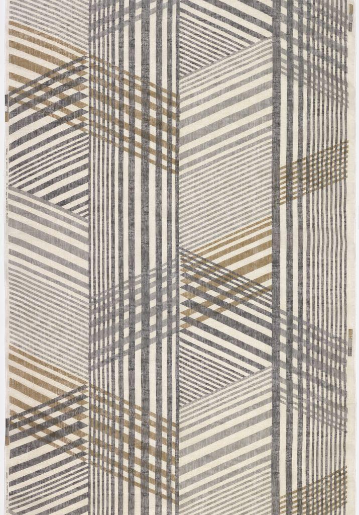 Jack Lenor Larsen; Printed Linen 'Gazebo' Fabric, 1960s.