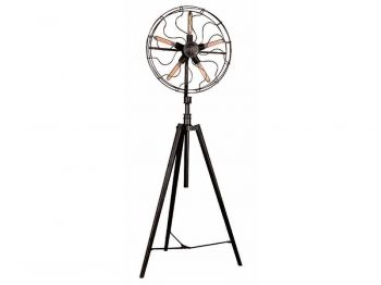 Trick you friends that you've gone #retro with this #vintage #electric #fan style floor #lamp! #lights #lighting #homedecor