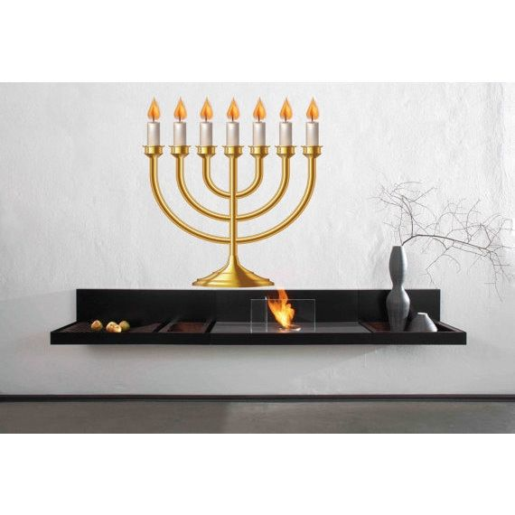 Full Color Hanukkah Candles Full Color Decal, Candles Full color sticker, Sticker Decal size 44x52