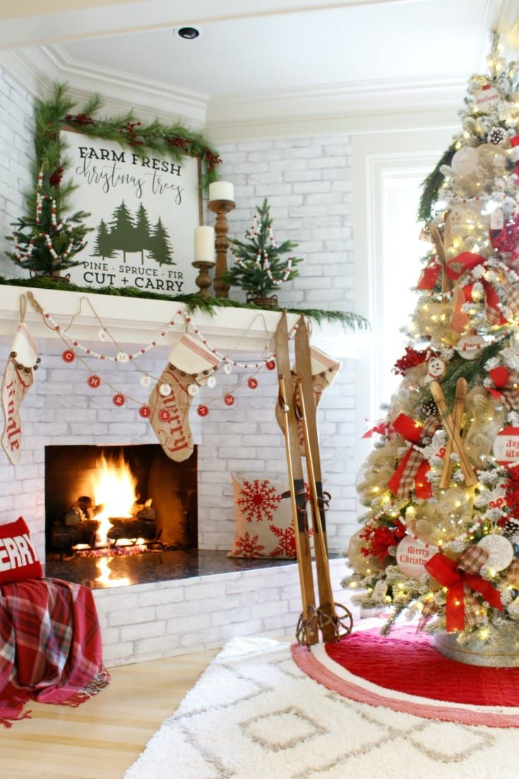 How To Create Your Most Festive Holiday Home Christmas Tree And Fireplace