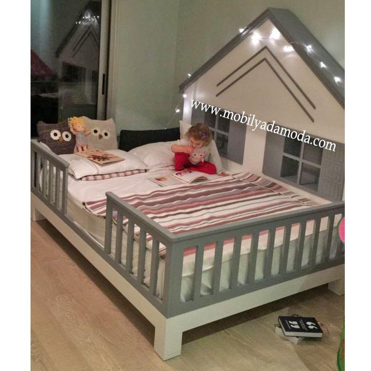 izmir bebek odası|izmir çocuk odası|mobilyadamoda|bebek odası|çoçuk odası|beşik izmir|ranza,izmir,yer yatağı,montessori yatağı,çocuk odası,montessori yer yatağı, kişiye özel tasarım, özel tasarım mobilya, özel üretim mobilya, izmir çocuk odası, genç odası,Montessori, ~ Arkası Çatılı Yer Yatağı Ayaklı Gri140x190
