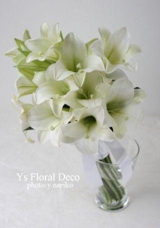 鉄砲ユリのアームブーケ  ys  floral deco @ウェスティンホテル東京
