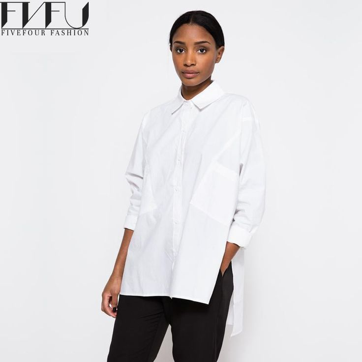 White Short Front Long Loose Shirt //Item is FREE Shipping Worldwide! //     #fashion #autumn #winter #spring #trending #latest #new
