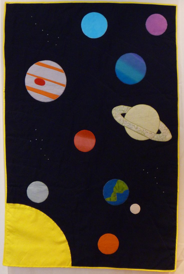 Solar system quilt pattern pics about space for Fabric planets solar system