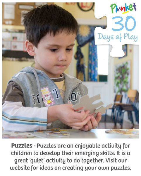 Make your own puzzles in today's #30daysofplay