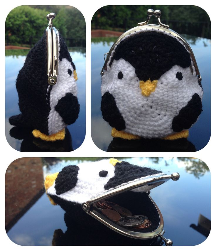 Penguin coin purse. Pattern available on ravelry website.