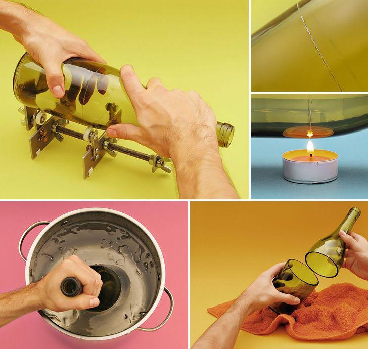 How to Make Wine Bottle Tumblers - DIY & Crafts - Handimania