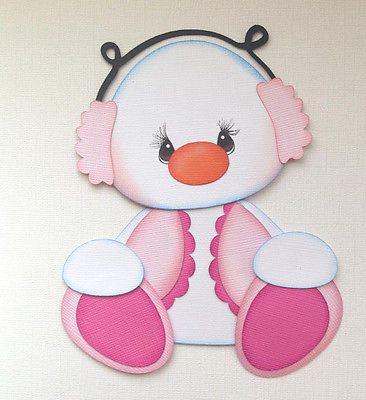 Christmas Winter Frosty Friend Pink Paper Piecing by My Tear Bears Kira | eBay