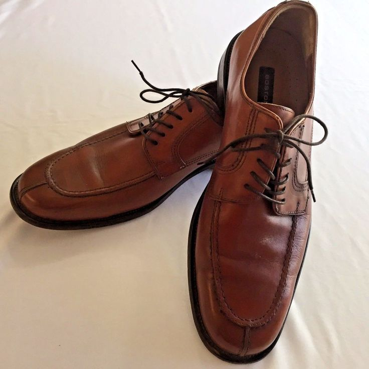 10.5 M Split Toe Oxford Bostonian Brown Shoes Lace Up Made In Italy Leather  #Bostonian #Oxfords #Formal