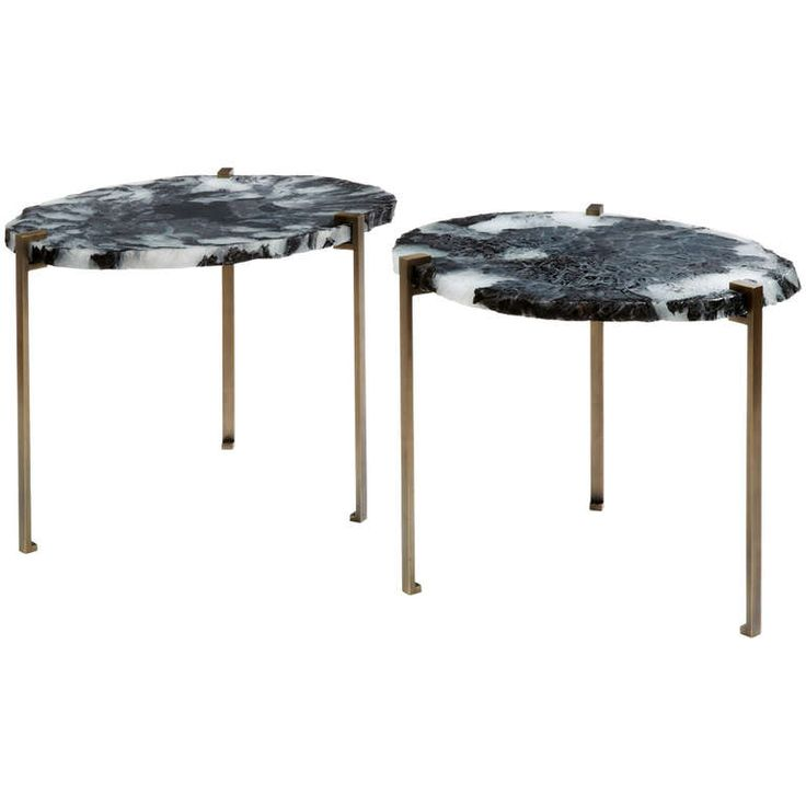'Gemme' Pair of Side Tables by Herve Langlais | From a unique collection of antique and modern side tables at https://www.1stdibs.com/furniture/tables/side-tables/